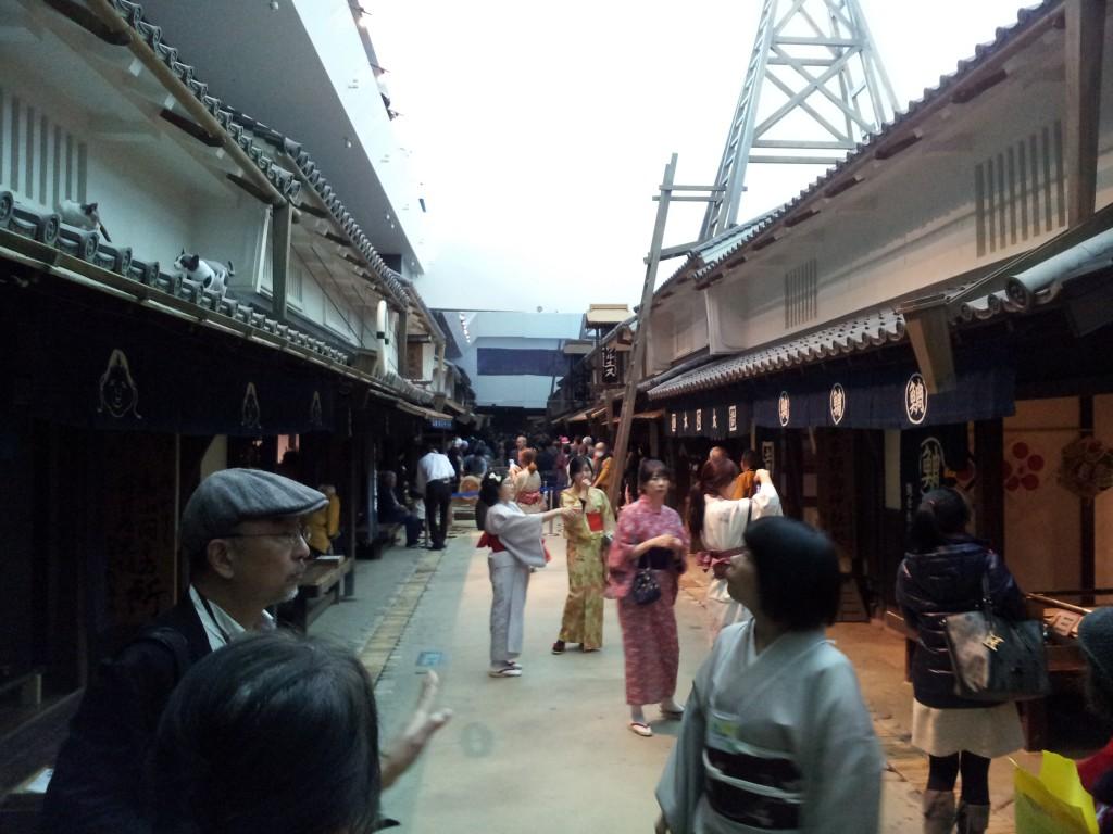 大阪市立住まいのミュージアム・大阪くらしの今昔館の江戸時代の街並み