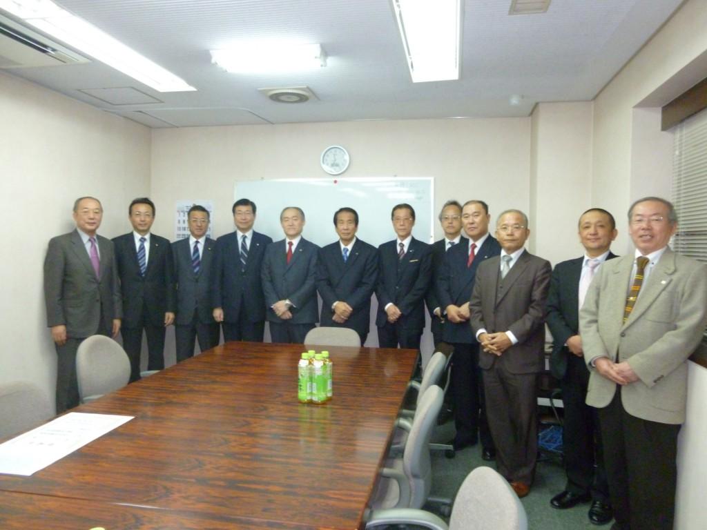 大阪市議団と大阪土地家屋調査士会と政治連盟幹部