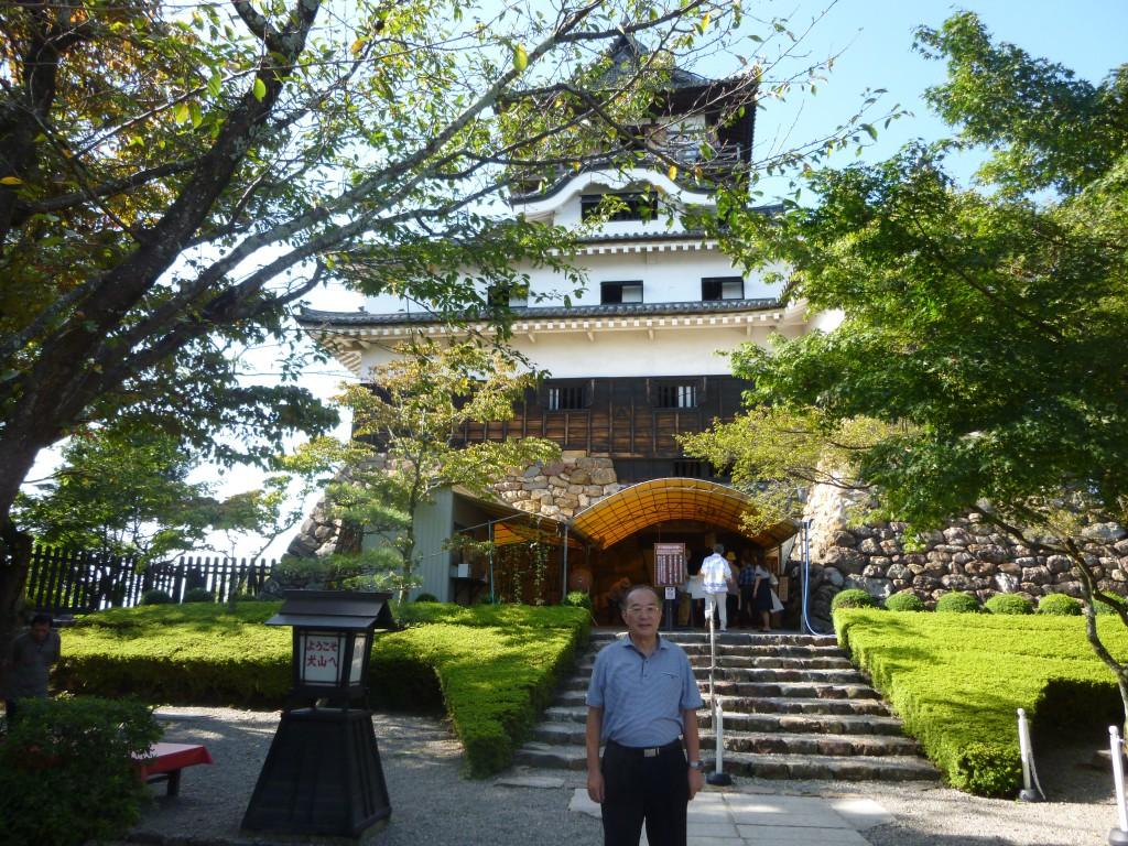 国宝犬山城天守閣の入口