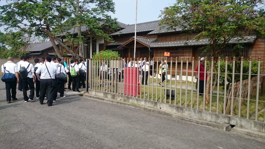 復元された八田邸には日本の高校生も見学